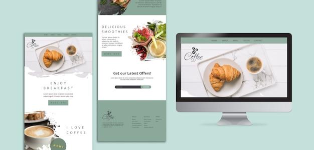 Modèles web de restaurant de petit déjeuner