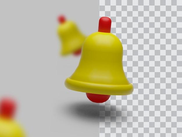 Modélisation de rendu de transparence 3d bell clipart