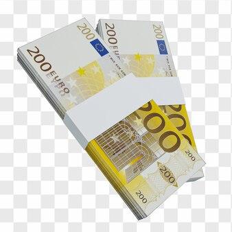 Monnaie de l'union européenne 100 euros : pile de billets européens en euros