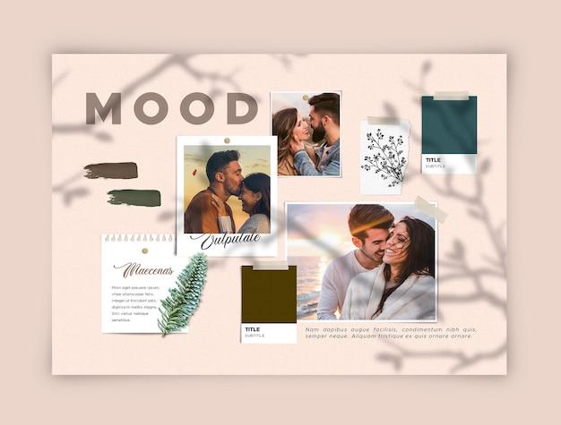 Moodboard romantique jeune couple