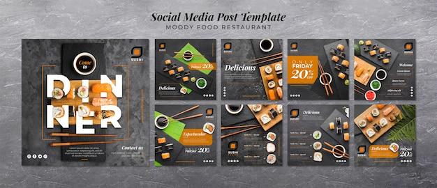 Moody food restaurant médias sociaux