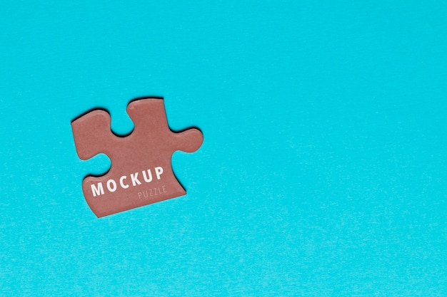 Morceau de puzzle vue de dessus