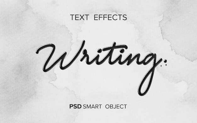 Mot d'écriture d'effet de texte