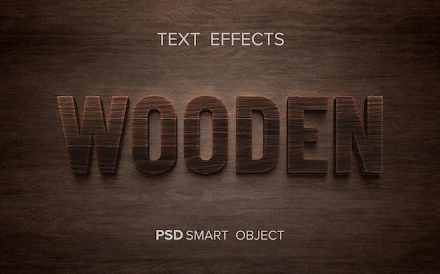 Mot avec effet de texte en bois