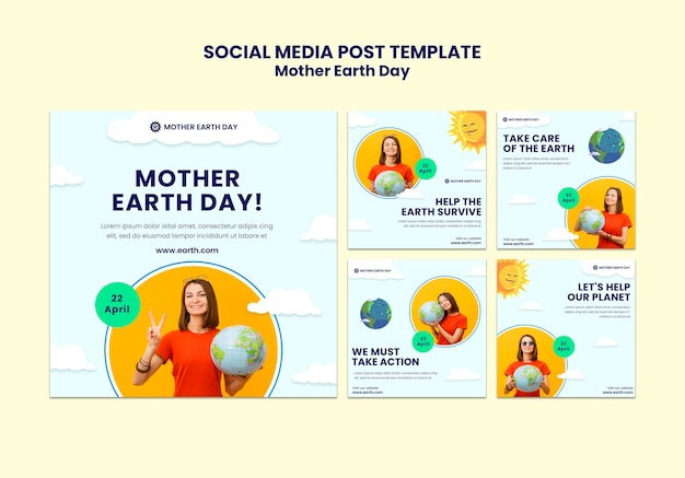 Mother earth day instagram posts