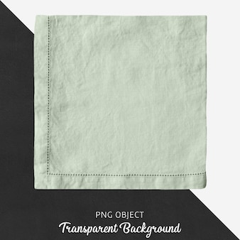 Mouchoir de lin carré vert d'eau transparent
