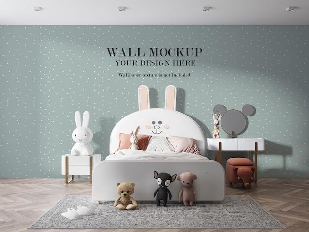 Mur blanc de chambre d'enfant