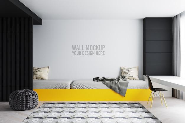 Mur de chambre à coucher intérieur pour enfants avec décorations