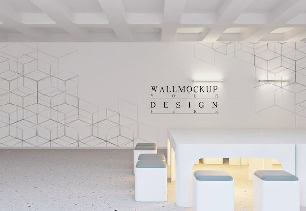 Mur de maquette dans un bureau intérieur moderne blanc