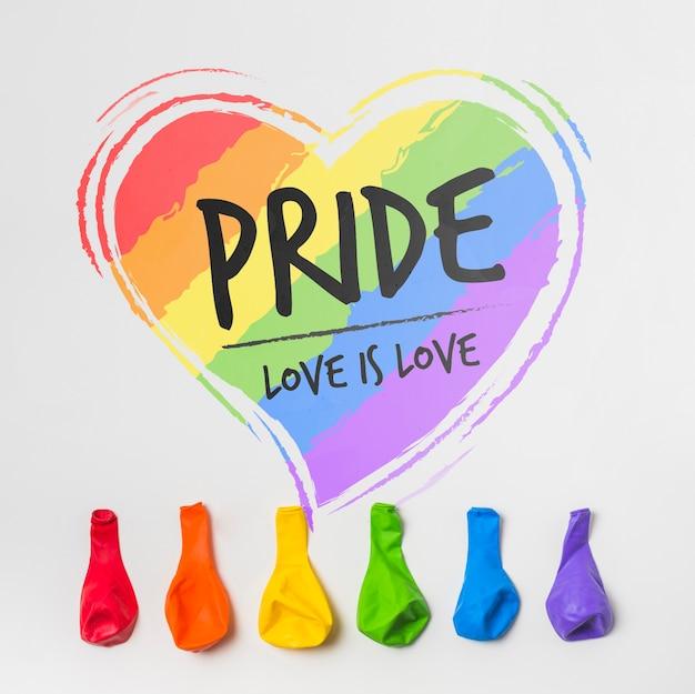 Mur maquette de la fierté gay
