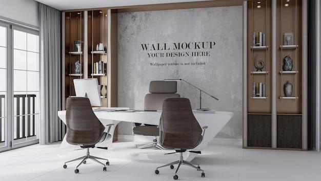 Mur de maquette de salle de directeur de luxe