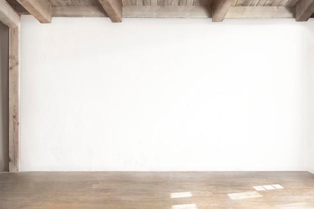 Mur de la salle vide psd intérieur japandi