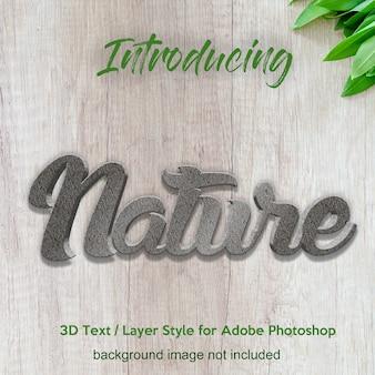 Mur texturé 3d effets de texte de style de calque photoshop texturé
