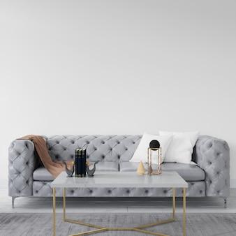 Mur vide avec canapé élégant