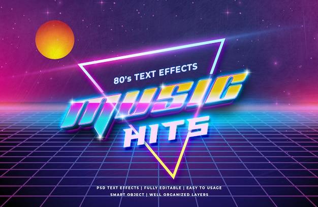 La musique frappe l'effet de style de texte 3d