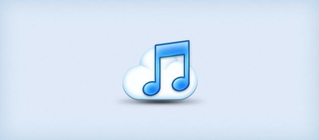 Musique nuage icône