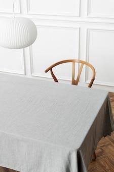 Nappe maquette psd dans la salle à manger