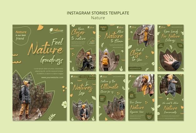 Nature explorant les histoires des médias sociaux