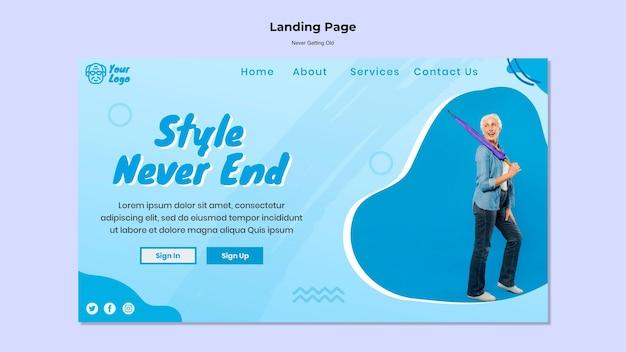 Ne jamais obtenir l'ancien modèle de page de destination