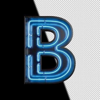 Néon lettre b