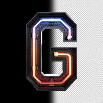 Néon lumière lettre g