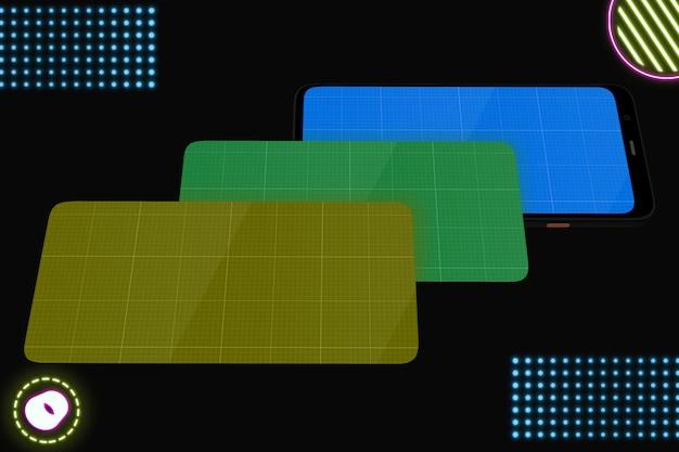Neon mobile mockup v.2
