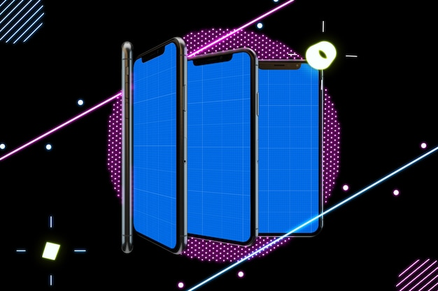 Neon mobile mockup