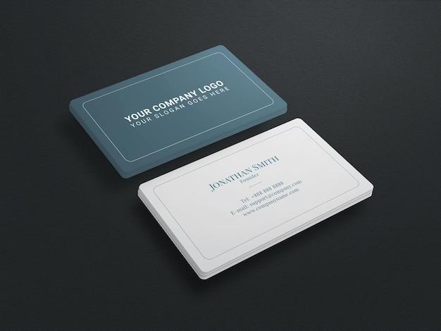 Nettoyer la maquette de carte de visite minimale sur fond noir