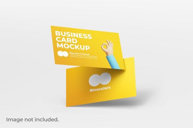 Nettoyer la maquette de deux cartes de visite modernes