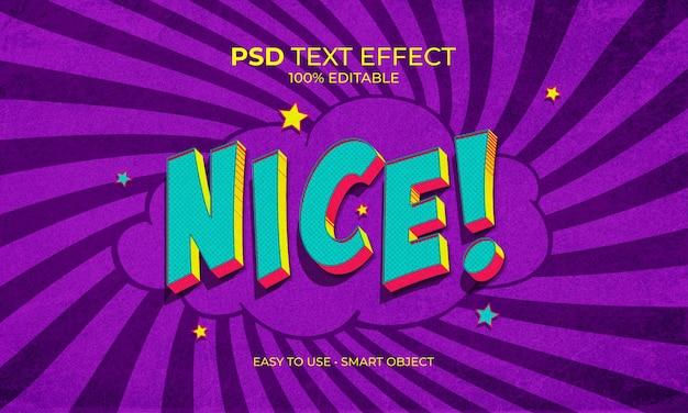 Nice effet de texte pop art