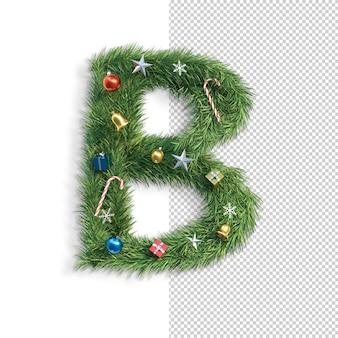Noël, alphabet, lettre b