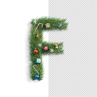 Noël, alphabet, lettre f