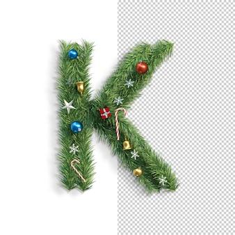 Noël, alphabet, lettre k
