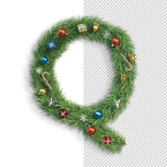 Noël, alphabet, lettre q