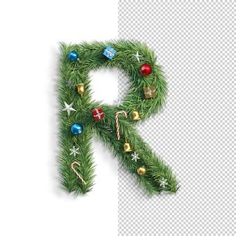 Noël, alphabet, lettre r