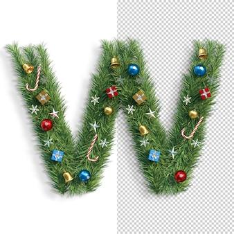 Noël, alphabet, lettre w