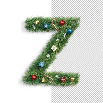 Noël, alphabet, lettre z