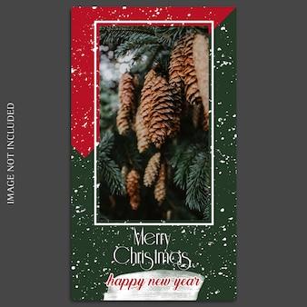 Noël et bonne année 2019 maquette de photo et histoire instagram