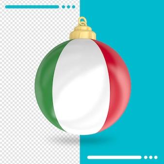 Noël italie drapeau rendu 3d isolé