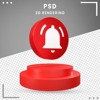 Notification d'icône de rotation 3d moderne isolée