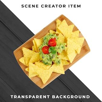 Nourriture mexicaine transparente psd