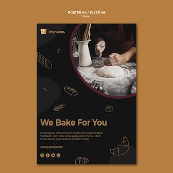 Nous cuisinons pour vous modèle d'affiche