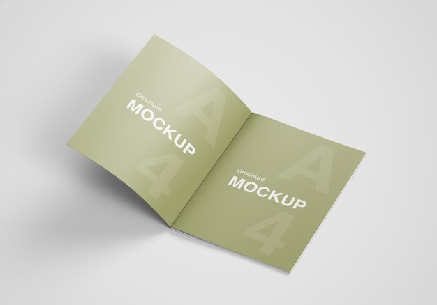 Nous a ouvert une brochure au format lettre ou une maquette de magazine