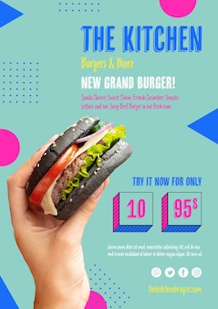 Nouveau menu de présentation du grand burger