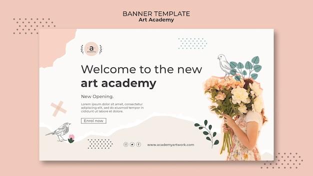 Nouveau modèle de bannière d'académie d'art