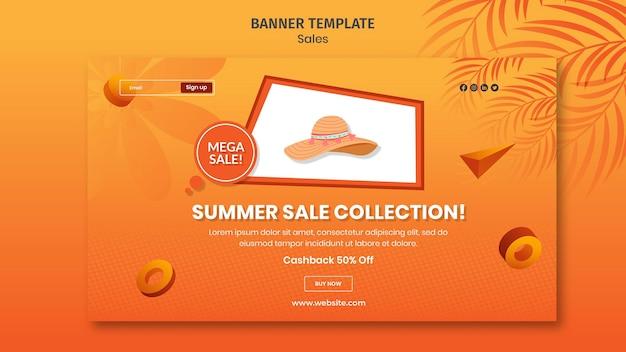 Nouveau modèle de bannière de collection d'été