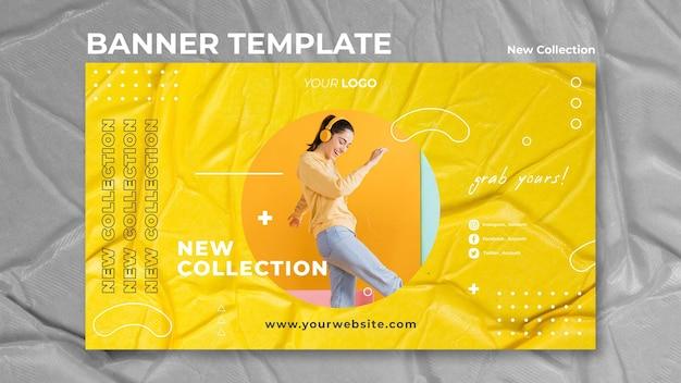 Nouveau modèle de bannière de concept de collection