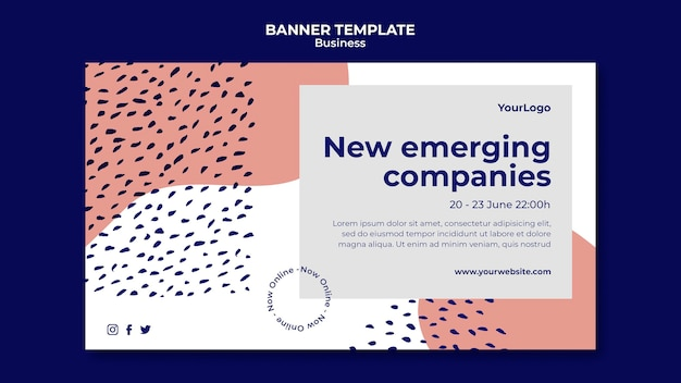 Nouveau modèle de bannière d'entreprises émergentes