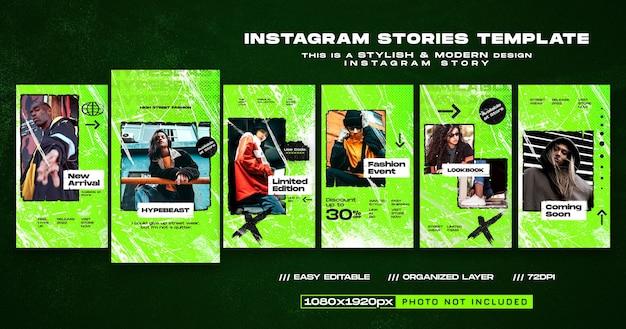 Nouveau modèle de conception d'histoires instagram d'arrivée