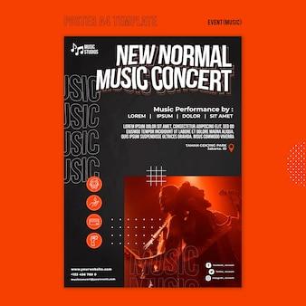 Nouveau modèle d'impression de concert de musique normale